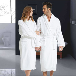 3bcbeb3bff long thick robes Australia - Men Bathrobe Cotton Towel Kimono Autumn Thick  Warm Towel Fleece Terry