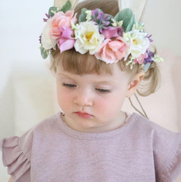 e9fd7030958 Hot Europe Summer Baby Girls Floals Headband Tieback Bunny Flower Crown  Baby Flower Crown Photography Props Hair Band Hair Accessory 14510
