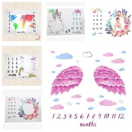 2f736cb4d Baby Monthly Milestone Blanket Unicorn Photography Props Baby Photo  Accessories Unicorn Mattre Wrap Baby Shower Gift Kids Swaddle Cover