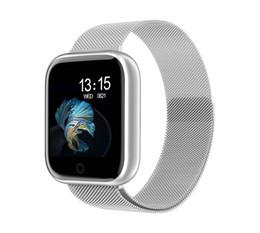 Canada Surveillance de la fréquence cardiaque de la montre intelligente T80 Sports Tracker moniteur d'activité cardiaque Smartwatch pour ios Android apple iPhone 6 7 Offre