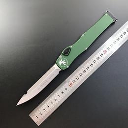 """2019 bronze forjado High-end faca Micro-tech HALO VI Faca automática (4.6 """"cetim) única ação Facas Anodizado 6061-T6 alça de alumínio Tactical Pocket Knives"""