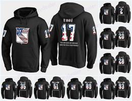 bandera negra de estados unidos Rebajas Hombres New York Rangers USA Flag Sudadera con capucha negra Jersey 17 Jesper Fast 50 Lias Andersson 72 Filip Chytil Sudaderas con capucha Sudaderas