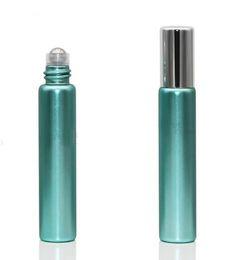 bottiglie all'ingrosso dell'olio di massaggio Sconti Commercio all'ingrosso 10 ml (1 / 3oz) bottiglia di olio essenziale di vetro con sfera di perline in acciaio aromaterapia profumo idratante contenitore per il trucco massaggio a prova di perdite