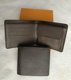 foto-brieftaschen Rabatt 2018 männer Brieftasche Aus Echtem Leder Kurze Geldbörse Mode Haspe Brieftasche Für Männer mit Kartenhalter Fotohalter mit box