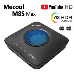 Ventilatore hd online-MECOOL M8S Max Amlogic S912 3GB 32GB Android 7.1 TV BOX 4K Lettore multimediale in streaming di Smart TV BOX Con ventola di raffreddamento
