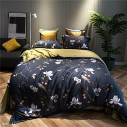 fiore copripiumino lusso Dimensioni egiziana del tessuto di cotone farmi deliziare regina Federa Lenzuolo Copriletto da stampanti giallo di stampa fornitori