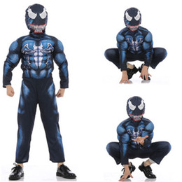 2019 venom traje preto de aranha Trajes de Venom Músculo infantil Bodysuit Homem-Aranha Preto Os Vingadores Cosplay Homem-Aranha Macacão Moda Halloween Suprimentos de Presente venom traje preto de aranha barato