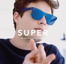 2019 super lunettes de soleil cool Retrosuperfuture Tuttolente Flat Top Petrol Lunettes de soleil Super lunettes de soleil -FND 55mm Unisexe avec boîte super lunettes de soleil pas cher