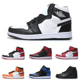 man torch Coupons - Air Mens Basketball Shoes I 1s Mid High OG Top quality Designer Shattered Backboard Pass The Torch Sneaker Outdoor Luxury Sports shoes 40-47