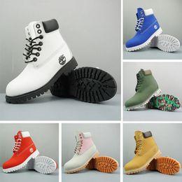 scarpe da ginnastica originale Sconti I più nuovi Timberland Original Brand Women boots Uomo Designer Sport Red White Winter Sneakers Casual Trainers Mens Women boot 36-45