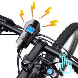 ordinateurs vtt Promotion NEWBOLER Vélo Fornt Light Avec Klaxon Électrique Vélo Compteur De Vitesse VTT Phare USB Rechargeable Étanche Chronomètre