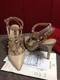 zapatos de jane Rebajas 2019 fetiche rojo tacones altos zapatos de mujer zapatos de boda Remache mary jane bombas escarpins femme señoras lolita gladiador sandalias mujeres valentine
