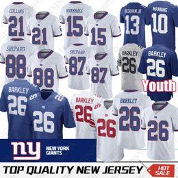 f3a2ec4eb New York 26 Saquon Barkley Jersey 21 Landon Collins 15 Brandon Marshall 10  Eli Manning 87 Sterling Shepard Gaint Jerseys promotion