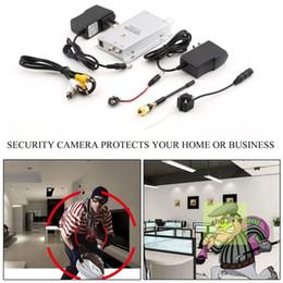 Câmera de segurança pinhole ao ar livre on-line-Sistema de Segurança sem fio Câmera de Segurança CCTV Video Cam 60Hz Rádio AV Receptor EUA Plug para Casa Escritório