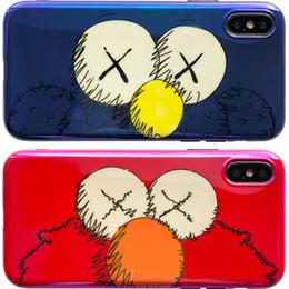 Blauer rosa iphone fall online-Modedesigner-Telefon-Kasten für IPhone XS XR XSMAX Netter Karton-Art-Telefon-Kasten weicher TPU-hochwertiger Fall-Farbe rosa blaues Rot