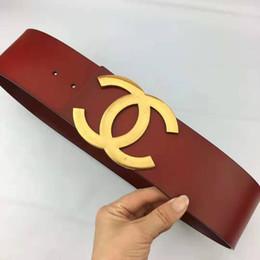 Ceinture en cuir de luxe haute qualité dames à la mode en cuir lettres décontractées boucle lisse ceinture en cuir noir et rouge 7cm ceinture vente chaude N16 ? partir de fabricateur