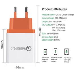 2019 cargador sony vtc4 DHL EGEEDIGI Cargador USB 18W de carga rápida 3.0 para iPhone X 8 Plus Cargador rápido QC 3.0 para Samsung Galaxy s9 Xiaomi mi 8 Cargador USB