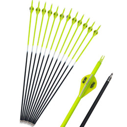 practice arrows Coupons - Archery Carbon Arrows SP500 Vanes Recurve Compound Bow Hunting Target Outdoor Practice Hunting and Shooting Mixed Arrow For Adult Shooting