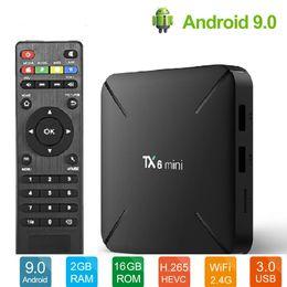 Wifi youtube box on-line-TX6 Mini TV Box 4K Android 9.0 2 GB 16 GB Allwinner H6 QuadCore USD3.0 2.4G Wifi BT Leitor Do Google Youtube Netflix PK TX3 X96