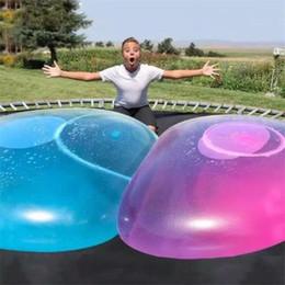 2020 hinchables de verano Globo de agua inflable increíble Wubble bola de la burbuja juguete divertido llenos de agua bolas de TPR para el partido de los juguetes de los niños de verano al aire libre Decoración A6505 hinchables de verano baratos