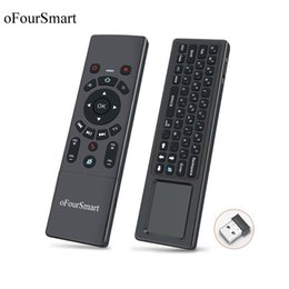 Proiettore universale a distanza online-T6 Air Mouse Wireless Keyboard & Touchpad Universal Remote Control For Android Tv Box Mini Pc Smart Projector 2.4g Air Fly Mouse T190628