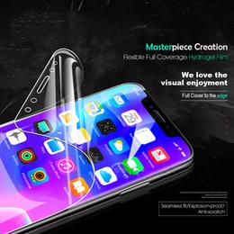 Blue Ray Phone Film para Samsung Galaxy S8 S9 Plus S7Edge Full Glue Soft TPU Protector de pantalla Hydrogel película protectora 2Pcs Pack desde fabricantes