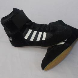 2018 New Men Wrestling Shoes chaussures de boxe Lacets de vache à lacets Muscle Cuir Cuir Tissu en caoutchouc Chaussures de sport en salle de sport Baskets; / ';'; ? partir de fabricateur