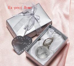 regalos de bodas de cristal Rebajas 50pcs 3D Globe Crystal Globe Llavero Regalo de boda para hombres Artificial Crystal Ball Llaveros Favor de fiesta Regalos para invitados