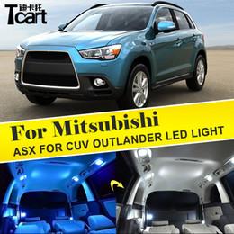 2020 accesorios asx Tcart Led Light para Mitsubishi ASX para accesorios CUV outlander T10 W5W luz interior puerta de matrícula maletero rebajas accesorios asx