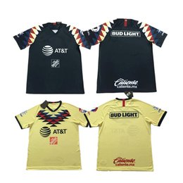Camisas de futebol americano amarelo on-line-2019 2020 México American Club Camisas De Futebol DOMINGUEZ Casa Amarelo Longe Camisas De Futebol Preto Mexicano MENEZ P.AGUILAR Camisetas de fútbol