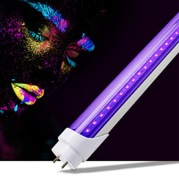 2019 nuove lampade fluorescenti T8 T5 LED UV 395-400nm Tube 2ft 3ft AC100-265V G13 Luci integrate Blubs Lampade Disinfezione ultravioletta Germ direttamente da Shenzhen Cina