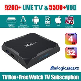 Caja de tv android árabe online-Suscripción de televisión en directo con X96 MAX Android TV Box Android 8.1 para el francés Alemania EE.UU. / CA / TI / 10000 + Reino Unido árabe