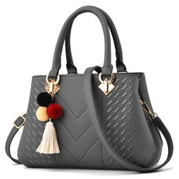 bolsos de cuero de diseño gris Rebajas Las mujeres PU bolsos de cuero del diseñador bolsos de hombro suaves para las mujeres bolsas de mensajero CROSSBODY BagsTop-Handle Bolsas Bolsa grises