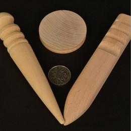 2019 ferramentas de trabalho artesanal Wood Leather Slicker Leathercraft Madeira Sólida Rodada Borda De Polimento para Borda Polida Artesanato de Couro Ferramenta de Trabalho QW9647 desconto ferramentas de trabalho artesanal