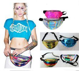2020 bolsa de hologramas laser Bolso de cintura con holograma láser para mujer Moda impermeable translúcido brillante Neon Fanny Pack Zip Bum Bag Travel Beach Purse Crossbody Shoulder Bag bolsa de hologramas laser baratos