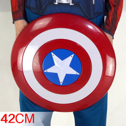 2019 letzte fantasieschuhe Captain America Cosplay Stimme Flash Shield für Captain America Kostüm Keep A Hero Safe als Kinderspielzeug Geschenk mit LED-Licht