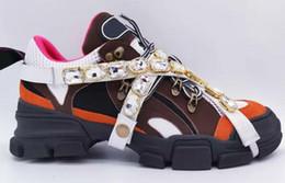 2019 12 кристаллов Flashtrek Дизайнерская повседневная обувь со съемными кристаллами Мужские кроссовки Модельер Женская обувь Кроссовки Размер 35-45 дешево 12 кристаллов