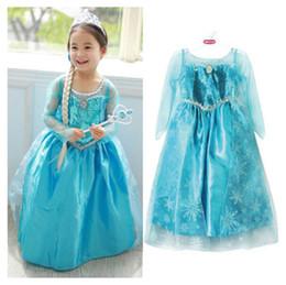 2019 Yeni Mavi Bebek Kız Çocuklar dondurulmuş kostüm elbise Kar Prensesi Kraliçesi Giydirme çocuk partisi Önlük Cosplay Tül Elbise 3-8Y nereden