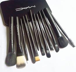 al por mayor pinceles de maquillaje de cristal Rebajas 12 unids M AC Marca Pinceles de Maquillaje Conjuntos de Kit de Maquillaje Cepillo Brocha de maquillaje DHL Envío Gratis