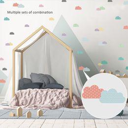 adesivos abençoados Desconto 14.8 * 21 cm Nuvens Nórdicas Unicorn Adesivos de Parede DIY Bonito Crianças Decoração do Quarto PVC Árvores Adesivos em Estilo de Decoração Para Casa