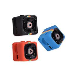 Kostenlose digitalkameras online-2019 neue SQ11 Minikamera HD 1080P Nachtsicht-Kamerarecorder-Auto DVR Infrarotvideorecorder-Sport-Digitalkamera-Unterstützungs-TF-Karte geben DHL frei
