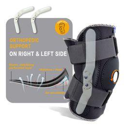 equipo de voleibol deportivo Rebajas Ajustable de la rodilla respirable Refuerzo ortopédico estabilizador de la rodilla almohadillas de apoyo de la Guardia con bisagra interior flexible Deportes Pad