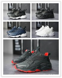 san francisco 1f943 aad86 (box) Günstige Huarache 4.0 1.0 Sneaker Casual Schuhe Triple Black Huaraches  Breathable Camouflage Trainer für Männer im Freien Schuhe Größe 36-45