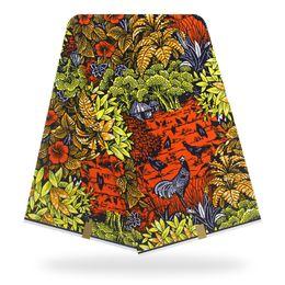 Orange Wachs Hollandais wahre Wachs druckt Stoff afrikanischen Stoff 100% Baumwolle Ankara Holland Tissu für Kleid von Fabrikanten