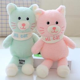 2019 brinquedo do gato do bebê Lindo Gato Brinquedos De Pelúcia Macia Dos Desenhos Animados Animal Gatos De Pelúcia Boneca Rosa Gato Apaziguar Do Bebê Brinquedo Presentes de Aniversário desconto brinquedo do gato do bebê