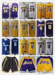 Shorts de basquete de kobe on-line-07 Homens Los Angeles