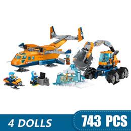 2019 brinquedos para 13 anos meninos 743 pcs pequenos blocos de construção de brinquedos compatíveis com legoe fornecimento de avião arc ártico presente para meninas meninos crianças diy