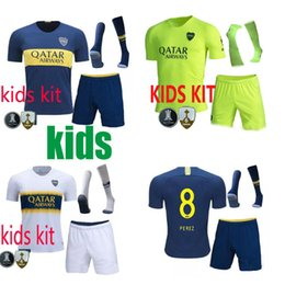boca juniors jersey thai Coupons - 18 19 Boca Juniors third children kits Soccer jerseys Uniforms kids kits Thai Quality Soccer Jersey TEVEZ CARDONA 19 20 green Football shirt