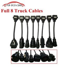diagnóstico de camión multidiag Rebajas conjunto de 8 cables llenos de camiones para vd TCS CDP Pro Plus / multidiag pro / MVD OBDII herramienta de diagnóstico conductores de camiones escáner OBD