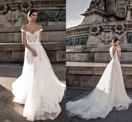 2f4e36afa044 Beautiful Designer Wedding Dresses Bridal Gowns Off the shoulder Embroidery  Applique Lace Tulle Country Court Train Wedding Gowns Cheap